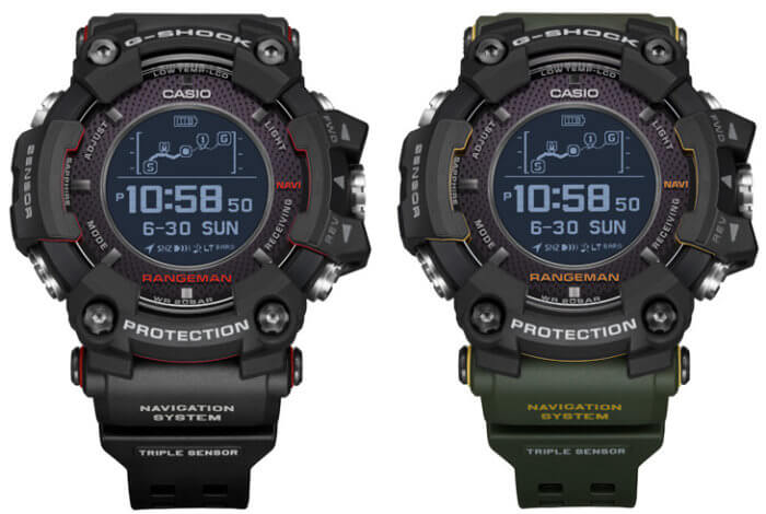 G-Shock Rangeman GPR-B1000 GPR-B1000-1 GPR-B1000-1B Survival Watch with GPS and Sensors
