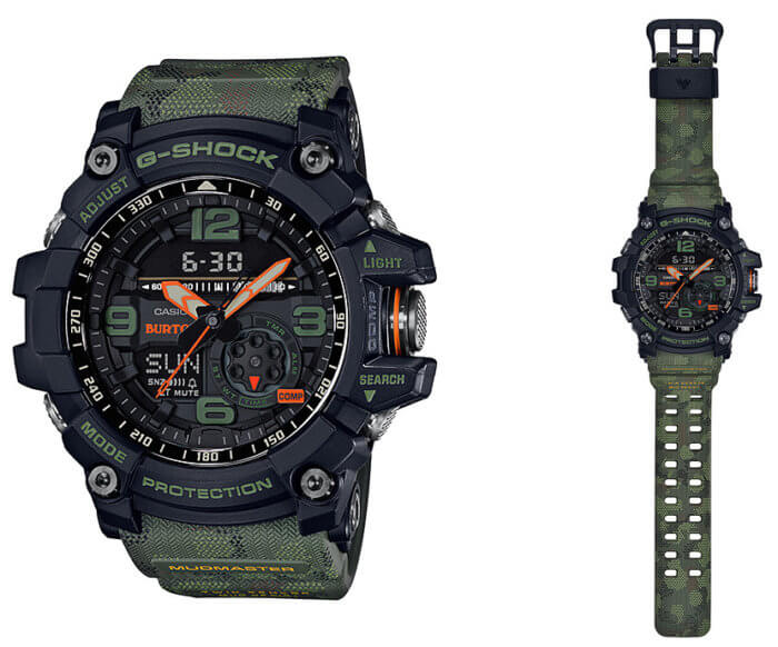 Burton Snowboards x G-Shock Mudmaster GG-1000BTN-1A 2018 Collaboration Watch