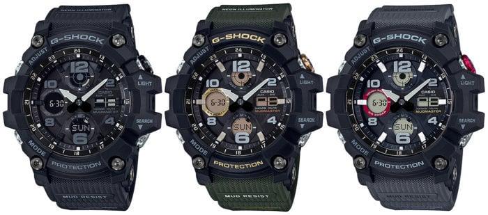 G-Shock Mudmaster GSG-100 Tough Solar GSG-100-1A GSG-100-1A3 GSG-100-1A8
