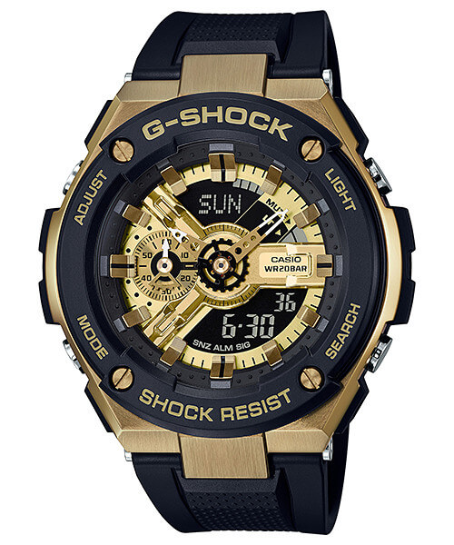 G-Shock G-STEEL GST-400G-1A9 Black and Gold