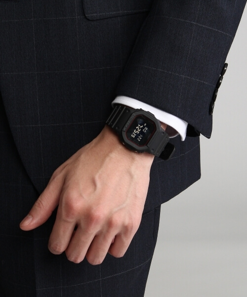 Takeo Kikuchi x G-Shock DW-5600 Watch with Suit