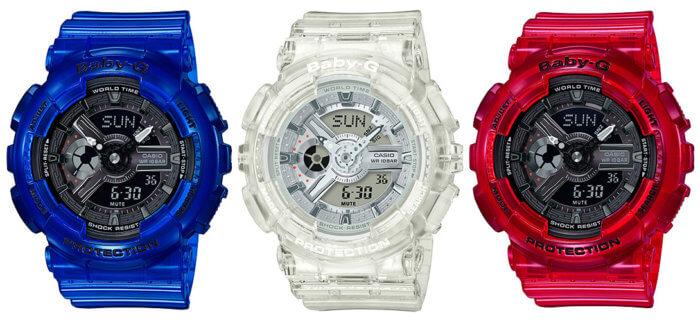 Baby-G BA-110CR-2A BA-110CR-4A BA-110CR-7A Coral Reef Color