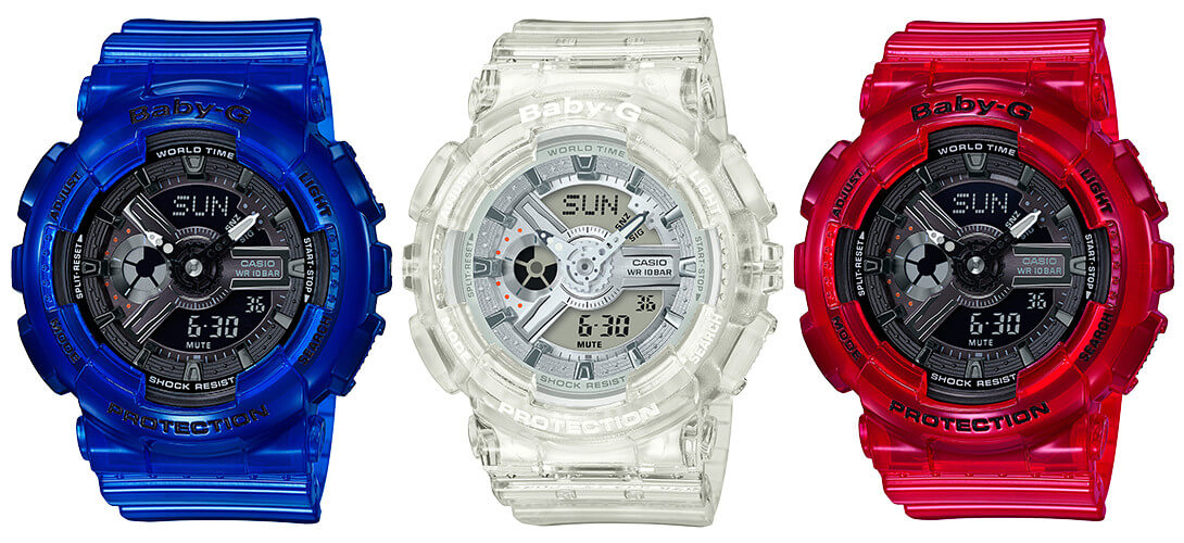 76ed7000107c G-Shock GA-110CR and Baby-G BA-110CR Coral Reef Color – G-Central G ...