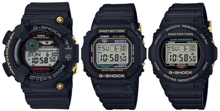 G-Shock 35th Anniversary D Series GF-8235D-1B ​​DW-5035D DW-5735D Screw-Back Stainless Steel Case