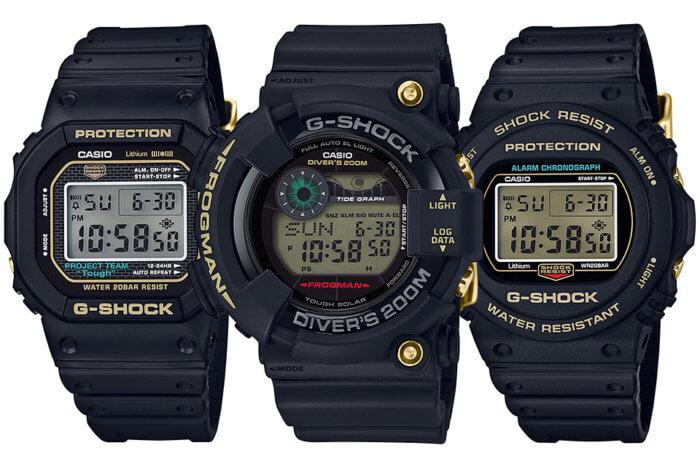 G-Shock 35th Anniversary Origin Gold Collection Screw-Back Case DW-5035D-1B DW-5735D-1B GF-8235D-1B Frogman