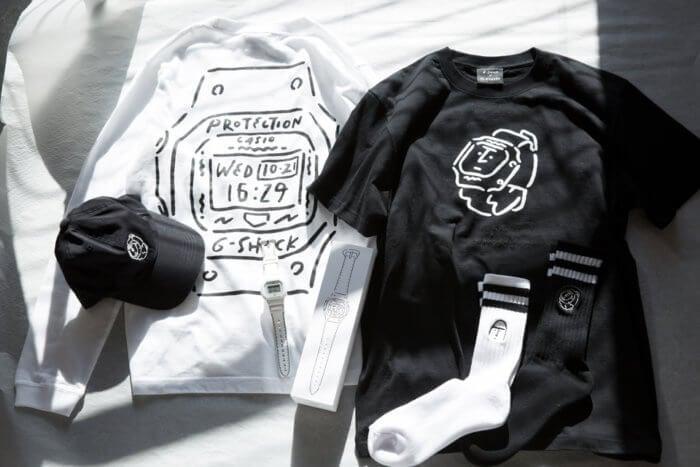 Yu Nagaba x G-Shock DW-5600 T-Shirt Socks Cap