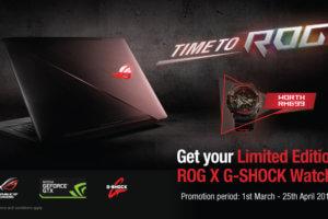 Malaysia: Asus ROG x G-Shock GA-110 Promotion
