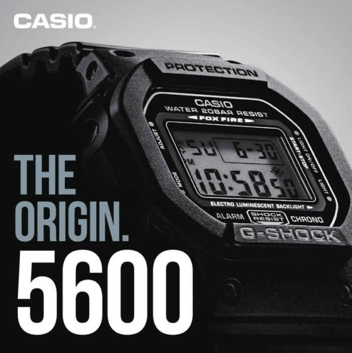 The Origin. 5600 G-Shock Catalog