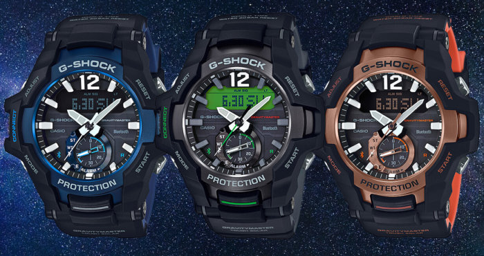 G-SHOCK GR-B100 GRAVITYMASTER GR-B100-1A2 GR-B100-1A3 GR-B100-1A4 Bluetooth and Tough Solar