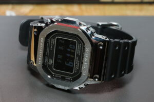 G-Shock GMW-B5000-1JF with resin band and reverse LCD display