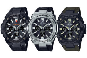 G-Shock G-STEEL GST-W130 with Tough Leather Band and Neon Illuminator
