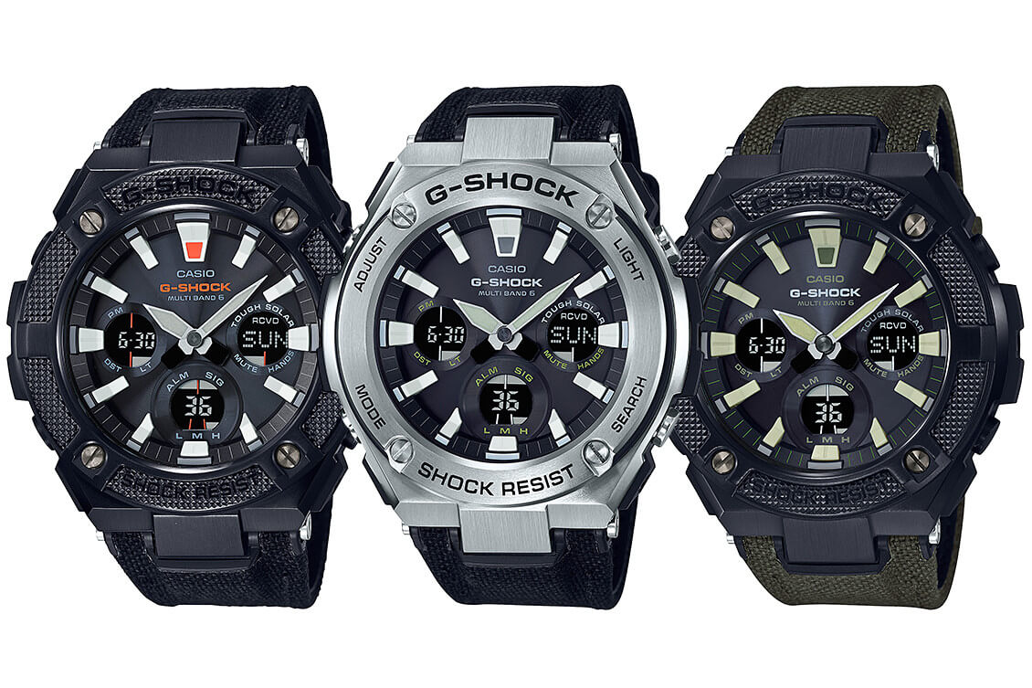 7c67bfd97 G-Shock G-STEEL GST-W130 with Hybrid Band and Neon Illuminator: GST ...
