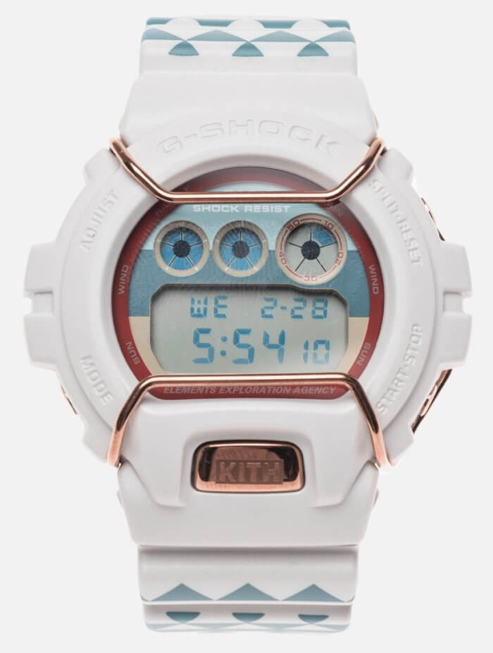 Kith x Casio G-Shock DW-6900KTH-7 Sea Salt Collaboration Watch
