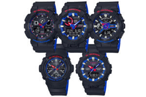 G-Shock LT Tricolor Layered Band Series Red Blue White
