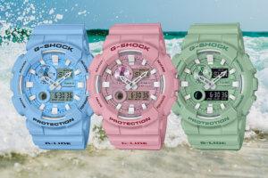 G-Shock G-LIDE GAX-100CSA Blue GAX-100CSA-2AJF, Pink GAX-100CSA-4AJF, Green GAX-100CSB-3AJF