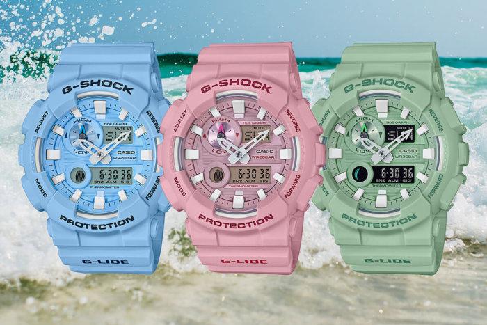 G-Shock G-LIDE GAX-100CS Blue GAX-100CSA-2AJF, Pink GAX-100CSA-4AJF, Green GAX-100CSB-3AJF