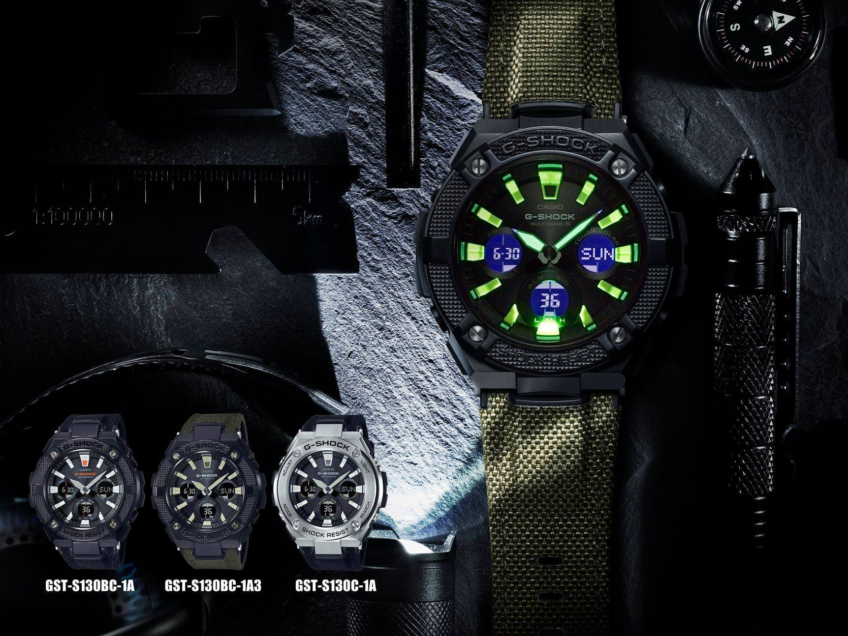 G Shock G Steel Gsts130bc 1a Gsts130bc 1a3 Street Utility G