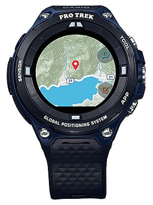 Casio Pro Trek WSD-F20A Smart Outdoor Watch in Indigo Blue
