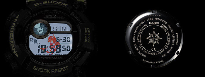 G-Shock GWF-D1000JCG Frogman Watch for Japan Coast Guard 70th Anniversary Backlight and Case Back