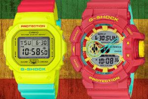 G-Shock Breezy Rasta Color Series DW-5600CM & GA-400CM