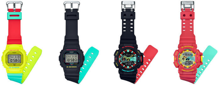 G-Shock Breezy Rasta Color Series Bands DW-5600CMA-9  DW-5600CMB-1 GA-400CM-1A GA-400CM-4A