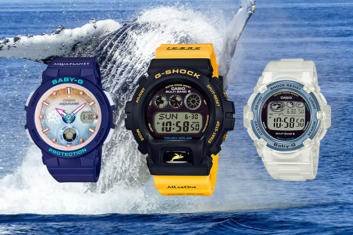 Love The Sea And The Earth 2018 G-Shock GW-6902K-9JR Baby-G BGA-250AP-2AJR BGR-3008K-7JR ICERC and Aqua Planet Collaboration Watches