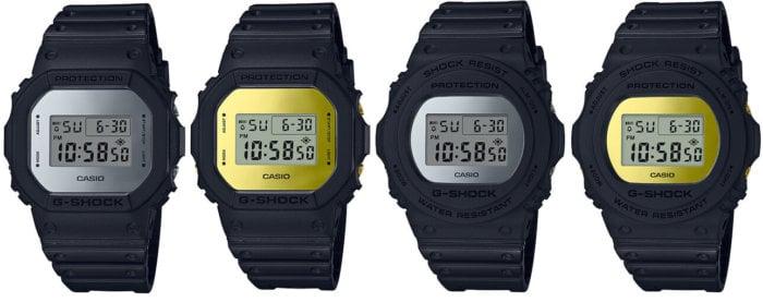 G-Shock Metallic Mirror Face DW-5600BBMA-1 DW-5600BBMB-1 DW-5700BBMA-1 DW-5700BBMB-1