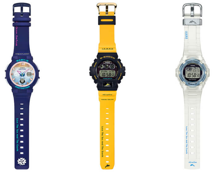 Love The Sea And The Earth 2018 G-Shock GW-6902K-9JR Baby-G BGA-250AP-2AJR BGR-3008K-7JR Bands
