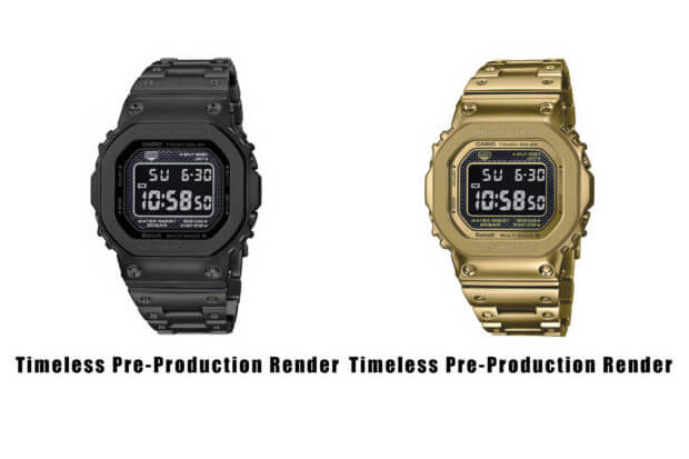 Unofficial Renders of G-Shock-GMW-B5000GD-1 GMW-B5000GD-9 Black IP, Gold IP, Reverse LCD Display