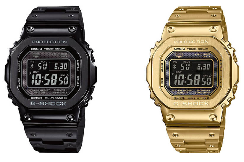 G Shock GMW B5000GD 1 & GMW B5000GD 9: New Black, Gold IP