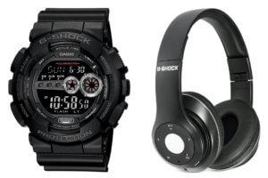 G-Shock GD100-1BBTS Bluetooth Headphones Gift Set