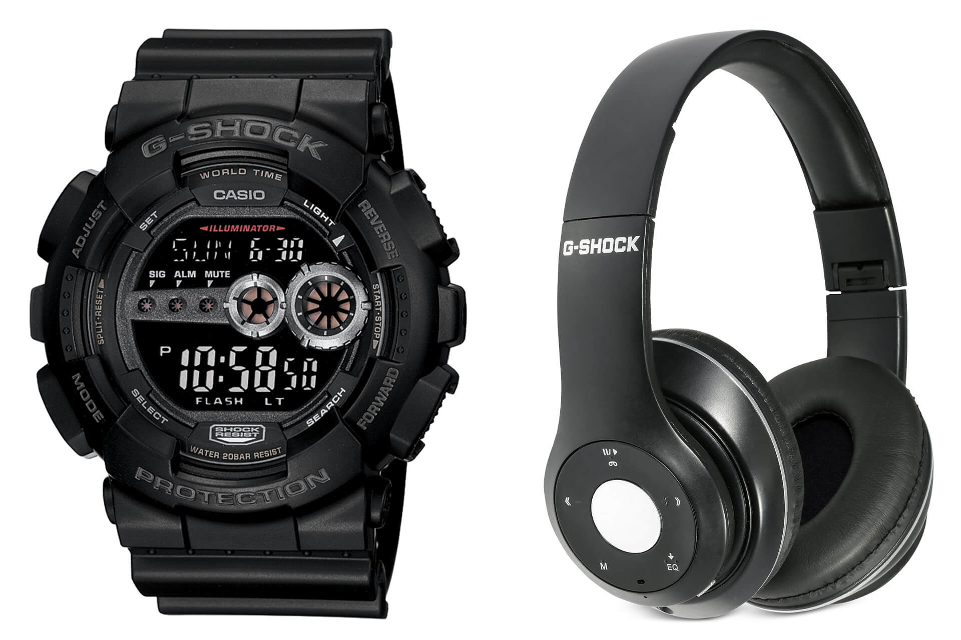 fe9649069 G-Shock GD100-1B with Bluetooth Headphones Set at Macy's – G-Central ...