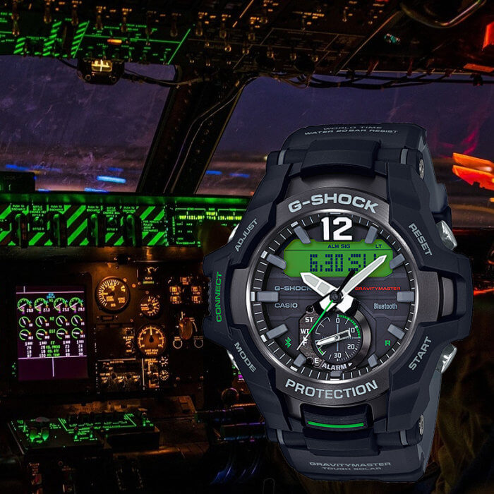 G-Shock Gravitymaster GR-B100 with Bluetooth and Tough Solar