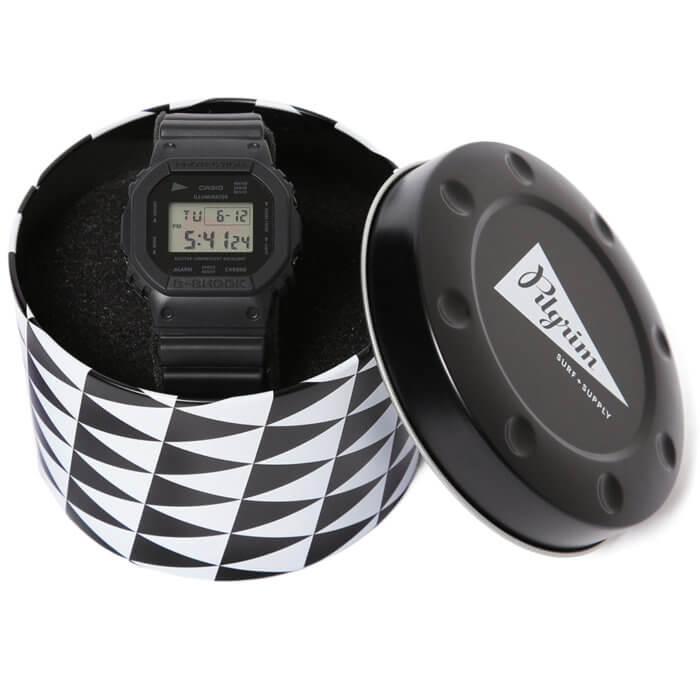 Pilgrim Surf + Supply x G-Shock DW-5600 Collaboration Watch and Case
