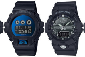 G-Shock DW-6900MMA-1 DW-6900MMA-2 GA-810MMA-1A GA-810MMB-1A2 Metallic Silver and Blue