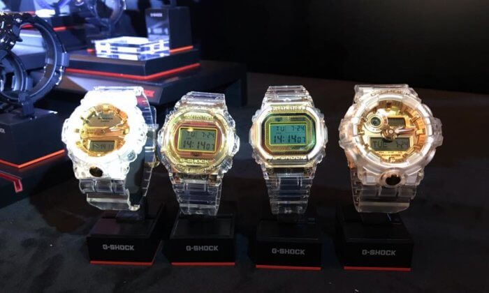 G-Shock 35th Anniversary Jelly & Gold Clear DW-5035E-7 DW-5735E-7 GA-735E-7A GA-835E-7A