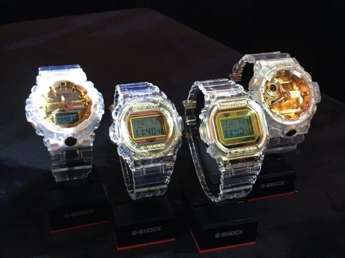 G-Shock 35th Anniversary Glacier Gold Clear DW-5035E-7 DW-5735E-7 GA-735E-7A GA-835E-7A