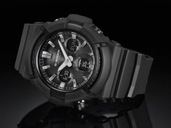 G-Shock GAS-100B-1A Most Affordable Extra-Large Analog-Digital with Tough Solar
