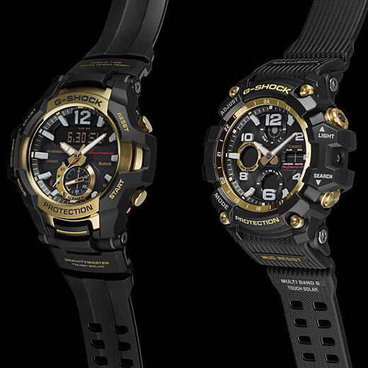 G-Shock GR-B100GB-1A Gravitymaster GWG-100GB-1A Mudmaster Black and Gold Master of G