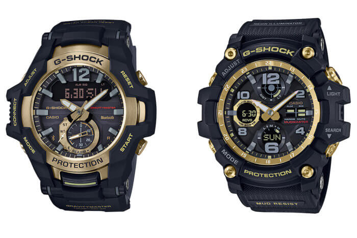 G-Shock GR-B100GB-1A Gravitymaster GWG-100GB-1A Mudmaster Black and Gold
