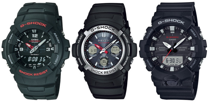 Mid-Size Analog-Digital Casio G-Shock Watches for Smaller Wrists