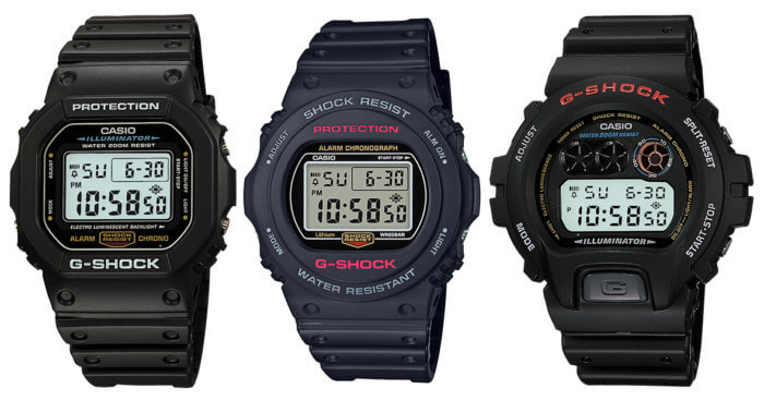 Mid-Size Digital Casio G-Shock Watches for Smaller Wrists