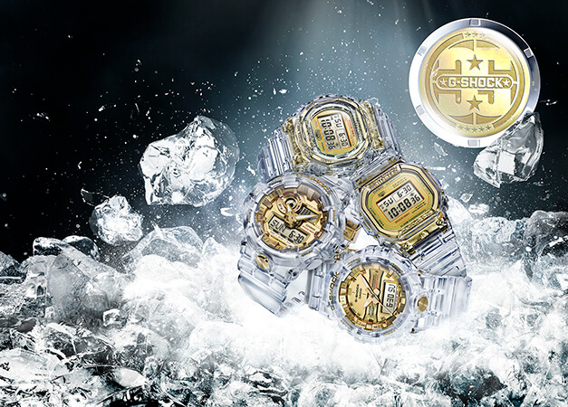 G-Shock 35th Anniversary Glacier Gold Collection