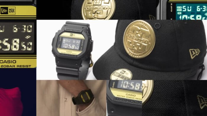 New Era x G-Shock DW-5600NE-1 Watch and Cap for 35th Anniversary 2018