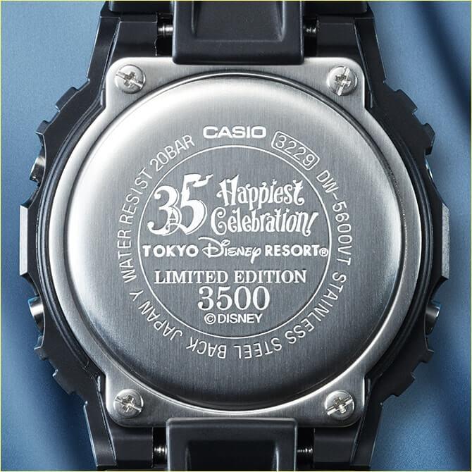Tokyo Disney Resort 35th Anniversary x G-Shock DW-5600 Case Back