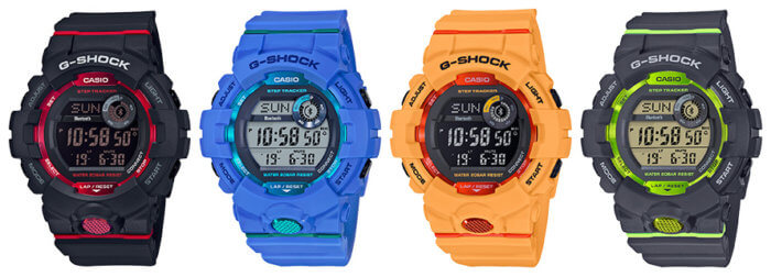Casio G-Shock G-SQUAD GBD-800 with Step Tracker and Bluetooth: GBD-800-1, GBD-800-2, GBD-800-4, GBD-800-8