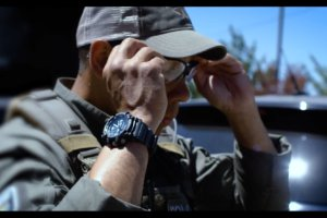 G-Shock GG1000-1A8 Mudmaster Black-Gray with Blue Accents