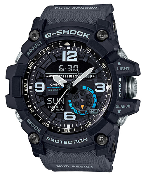G-Shock GG1000-1A8 Mudmaster Black-Gray with Blue Accents – G-Central G-Shock Watch Fan Blog