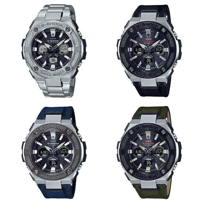 G-Shock G-STEEL GST-W330AC-1AJF GST-W330AC-2AJF GST-W330AC-3AJF GST-W330D-1AJF Stainless Steel Knurled Bezel