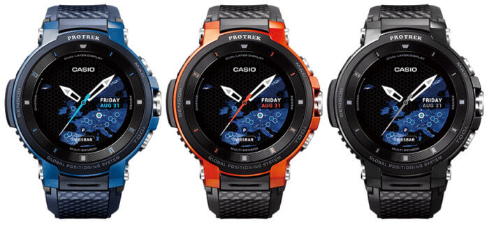 Casio Pro Trek Smart WSD-F30 Outdoor Smartwatch WSD-F30-BU (blue) WSD-F30-RG (orange) WSD-F30-BK (black)